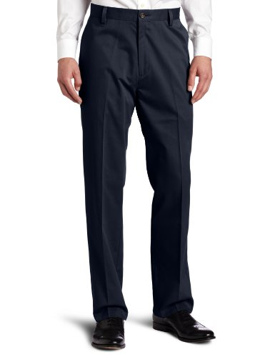 Dockers Men's Easy Khaki D3 Classic-Fit Flat-Front Pant, Dockers Navy, 38W x 32L Navy Flat Front Dress Pants