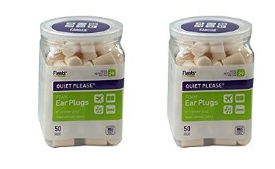 Flents Quiet Please Ear Plugs, EZJOgI 2 Pack (50 Pair)