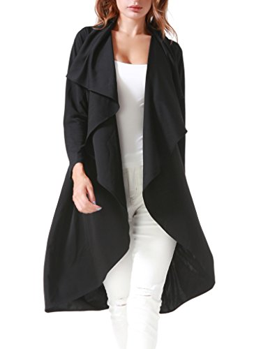 Long Black Trench Coat - 3