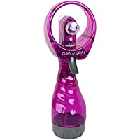 Clips N grips Deluxe Water Spray Fan Safe Fan Blades , Purple