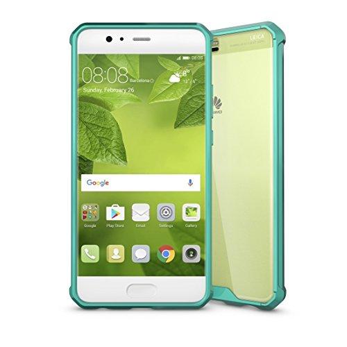 ZITEZHAI-Fashion case for Huawei P10 Plus Acrylic + TPU Transparent Armor Protective Case (Color : Green)]()