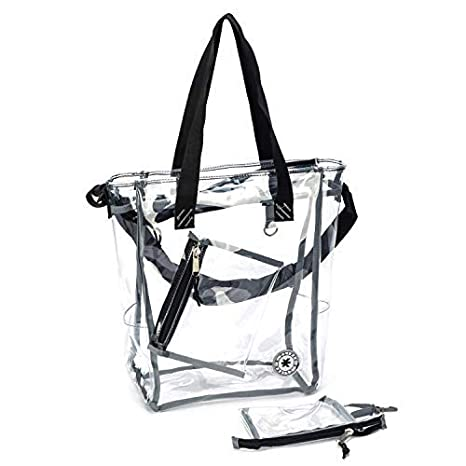 12 Non-closing Clear Bag NFL AAF PGA Stadium Approved See Through Tote PGA Compliant Transparent Snack Bag