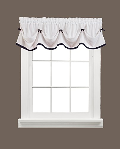 SKL Home by Saturday Knight Ltd. Kate Valance, Black, 58 inches x 13 inches ()