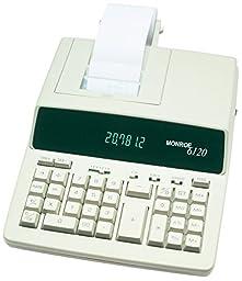 Monroe 6120 Heavy Duty Desktop Printing Calculator Adding Machine