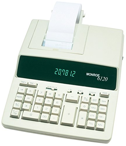 Monroe 6120 Heavy Duty Desktop Printing Calculator Adding Machine by Your Office Stop