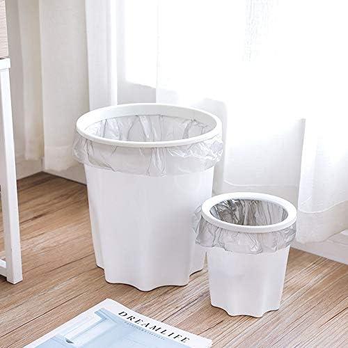 syeytx Poubelle cr/éative avec anneau de pression Cuisine de salle de bains /à usage domestique avec poubelle en plastique /à couvertures multiples Armoires de rangement de grande taille La corbeille A