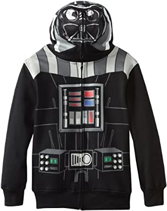 Star Wars Big Boys' Darth Vader Hoodie, Black, Small(8)