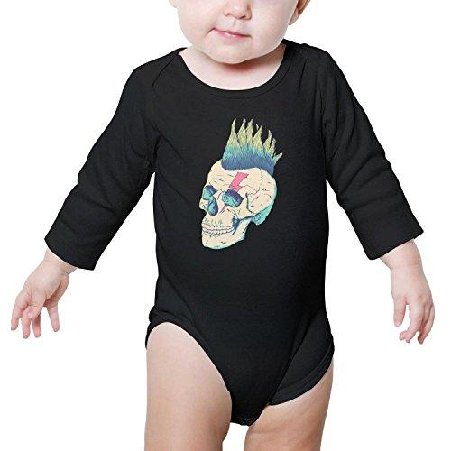 TylerLiu Skull Punk face Unisex Baby Boys Girls Onesie Bodysuit Soft Comfortable