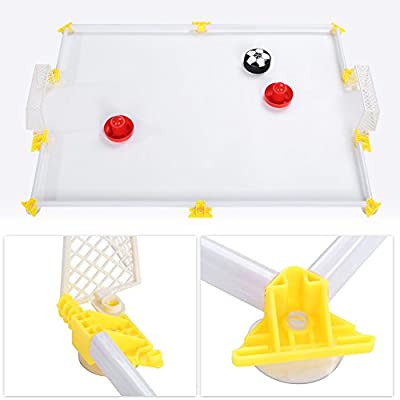 Alomejor Mesa Air Power Soccer Toy Air Power Soccer Disk Hover Ball Air Hockey Hover Soccer Campo de f¨²tbol Juego de Juego: Amazon.es: Deportes y aire libre
