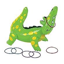 "Fun Express Inflatable Alligator Ring Toss Game, 22"", Vinyl"