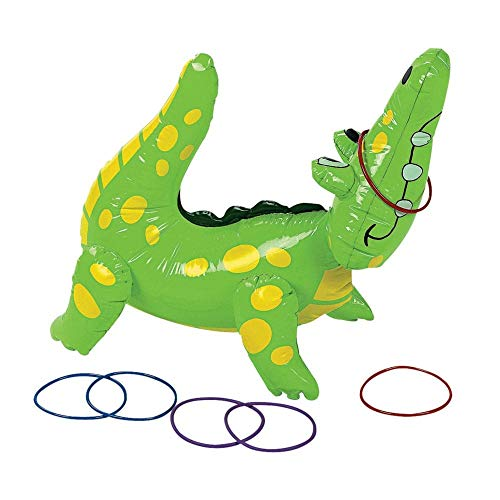 Animal Lover Pin Set - Fun Express Inflatable Alligator Ring Toss Game, 22