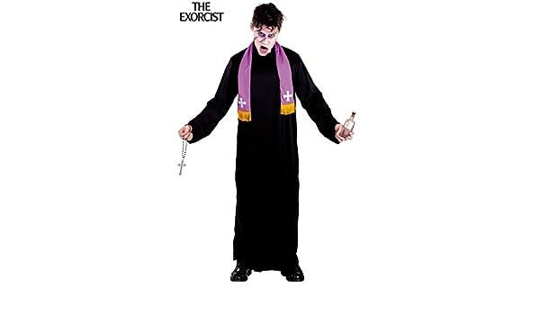 El Exorcista Disfraz de Padre Karras Hombre: Amazon.es: Juguetes y ...