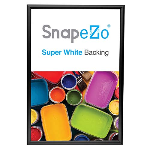 SnapeZo Poster Frame 13x19 Inches, Black 1 Inch Aluminum Profile, Front-Loading Snap Frame, Wall Mounting, Sleek Series