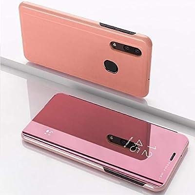 SWMGO® Espejo Enchapado Flip Funda para Samsung Galaxy A50 (Oro ...