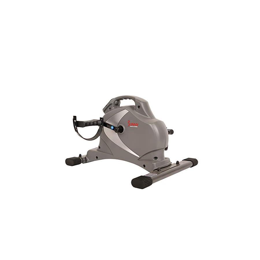 Sunny Health & Fitness SF B0418 Magnetic Mini Exercise Bike, Gray