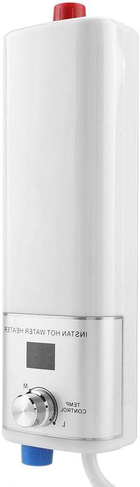 Liineparalle Calentador de Agua de g/éiser Mini Calentador de Agua Caliente instant/áneo sin Tanque el/éctrico para ba/ño Cocina Lavado Invierno Enchufe de la UE 220V 3800W #2