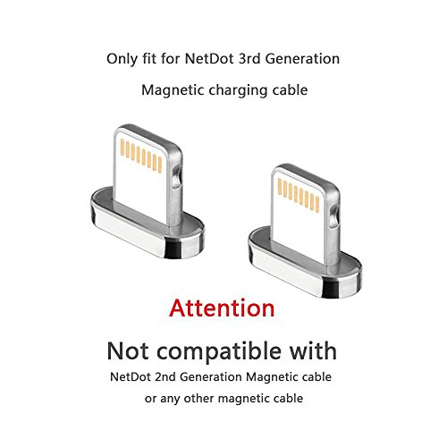 Add On Connector Compatible with NetDot 3rd Generation Magnetic Cable (connectors/no Cord)