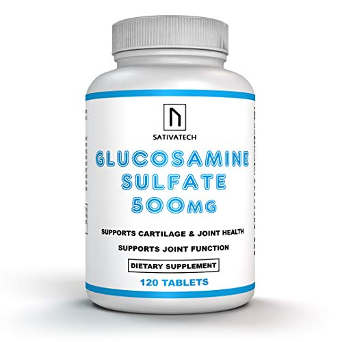 Glucosamine 500mg 120 Tablets   Bone and Joint Support   Arthritis and Mobility Support   for Back, Hands and Knees.