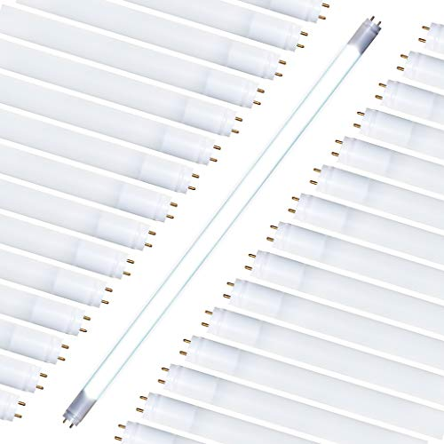 T8 Ballast Fluorescent 277 ((30 Pack) T8, T10, T12, 4FT LED Glass Type A & B Tube Works with existing Ballast or Bypass Ballast Either one-end Direct or Two-end Direct 18W; 2,200 Lumens; Cool White 4000K; AC120-277V)