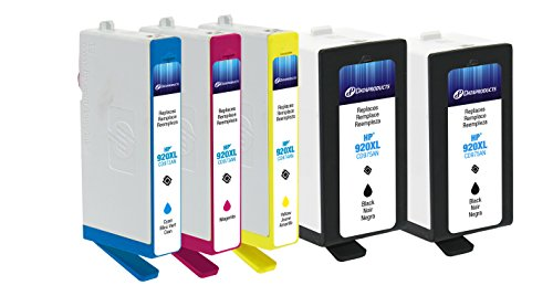 Dataproducts Ink Refill (Dataproducts Remanufactured 5-Pack-Inkjet Cartridges for HP 920XL-2Black, Cyan, Magenta, Yellow)
