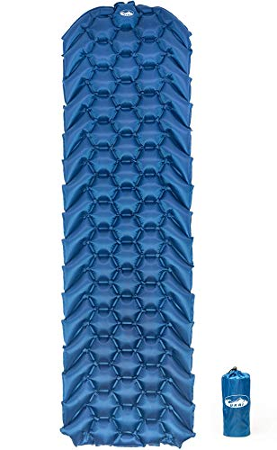 Ukai Outdoors FeatherRest Sleeping Pad - New Ultralight, Compact Mat with Large Air Cells for Comfort and Support - Inflatable Air Mattress Great for Camping, Traveling, Sleepovers and Backpacking