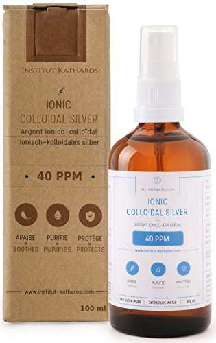 Premium 100% Natural Colloidal Silver Spray 4oz ✅ 40 PPM ✅Superior Concentration, Smaller Particles = Better Results ✅Certified by 3 Laboratories ✅We Proudly Manufacture Our Own Colloidal Silver. - Ionic Silver Spray