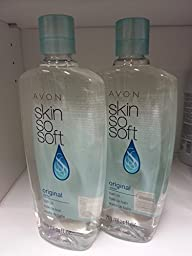 Avon Skin so Soft Original Bath Oil - 24 Fl. Oz. - New Formula with Jojoba Oil Lot 2 Bottles