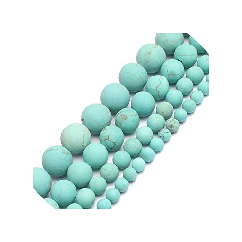 entertainment-moment 4Mm 6Mm 8Mm 10Mm Natural Matte Morganite Agates Tiger Eye Stone Round Beads Making Bracelet 15,Turquoise,6Mm 61Pcs Beads