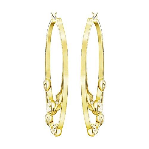(Swarovski Gaze Hoop Pierced Earrings - Gold Tone - 5279796)
