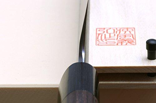 Yoshihiro Shiroko High Carbon Steel Kasumi Kama Usuba Japanese Vegetable Chef's Knife 7inch(180mm) with Shitan Handle by Yoshihiro (Image #4)