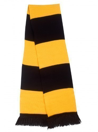 Result Men's Retro Style London Wasps Rugby Union Gold & Black Bar Scarf