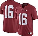 Nike Men's Alabama Crimson Tide #16 Crimson Limited Football Jersey (M)