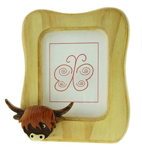 Glen Appin Small Wooden Highland Cow Coo Picture Frame (Cow Picture Frame)