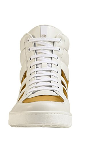 70c56ee5e2b Gucci Men s White Gold Contrast Padded Leather High Top - Import It All