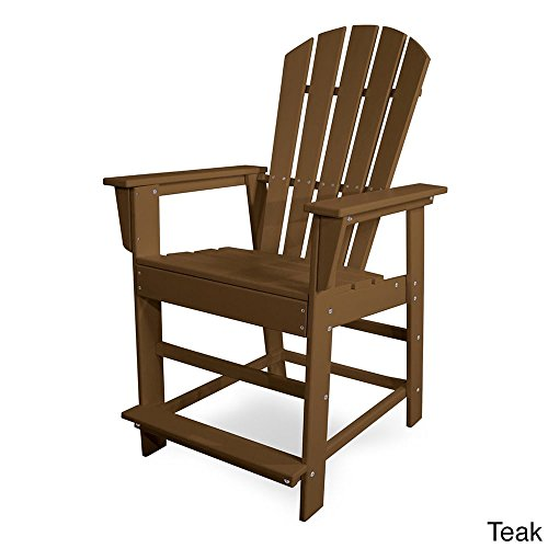 POLYWOOD SBD24TE South Beach Counter Chair, Teak by POLYWOOD