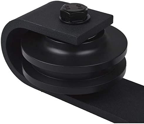 irene inevent 12FT Country Style Black Barn Wood Steel Double Sliding Door Closet Hardware Set