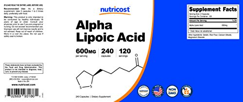 Nutricost Alpha Lipoic Acid - 600mg Per Serving - 120 Servings