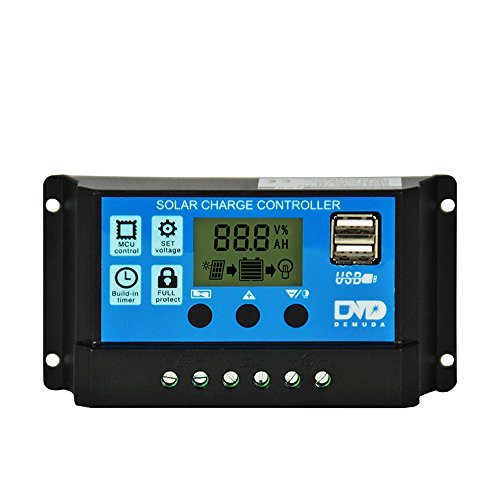7a Charge Controller (Putars 10A/20A/30A Dual USB Solar Panel Battery Regulator Charge Controller 12V/24V Overload Protectio (Rated Current 20A))