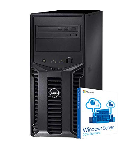 Dell PowerEdge T110 II Tower Server, Xeon E3-1220, 32GB DDR3, 8TB, PERC 6i RAID, DVD-ROM, Windows Server 2016 (Renewed)