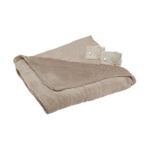 Biddeford 13213 Micro Plush heated electric king-size blanket, linen.