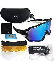 COL Sportswear gepolariseerde Sportbril Voor Fietsen Atletiek Wintersport En Outdoor Sport Met 4 Verwisselbare Lenzen En Licht TR 90 Frame Voor Mannen En Vrouwen