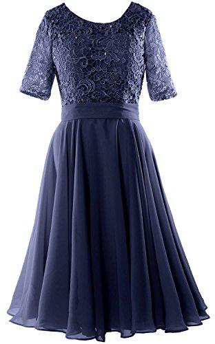 Navy Wedding Mother Formal Women Dark Of Gown Lace Bride Dress Sleeve Short Macloth Half 6qASgHw