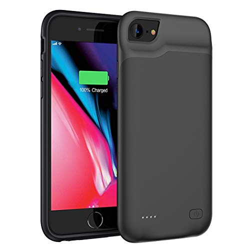 Battery Case for iPhone 8/7/6s/6, 6000mAh Portable Charging Case Extended Battery Pack for iPhone 8/7 /6s/ 6 Rechargeable Charger Case [4.7 inch]-Black