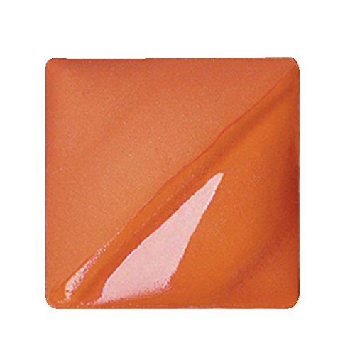 AMACO Velvet Lead-Free Non-Toxic Semi-Translucent Underglaze, 1 pt Jar, Flame Orange V-389
