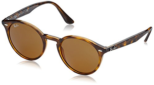 Ray-Ban Men's Plastic Man Round Sunglasses, Dark Havana, 51 - 2180 Rb