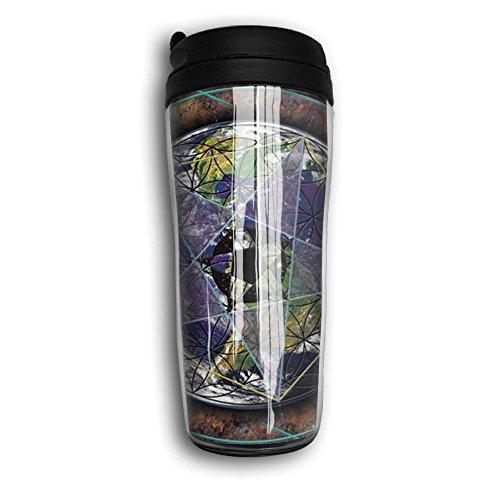 Sacred Geometry Coffee Cup Travel Leak-proof Mug Double-layer Sports - Shopping Casuarina