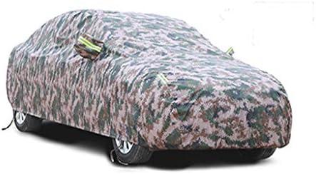 リンカーンMKZのカーカバーと互換性がある日焼け止めの絶縁材の絶縁体のカーカバー (Color : Camouflage, Size : Built-in lint)