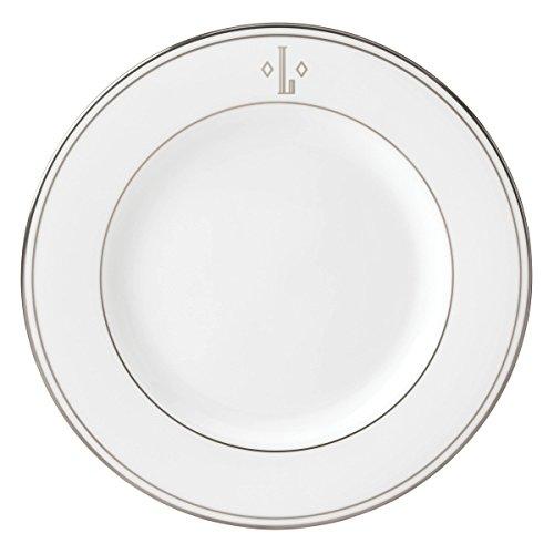 Lenox Federal Platinum Block Monogram Dinnerware Salad Plate, L by Lenox