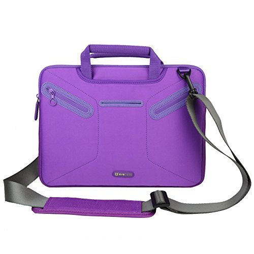 Price comparison product image Evecase Multi-functional Carrying Messenger Case with Handle and Shoulder Strap for 12.5 - 13.3 inch Laptops - Purple