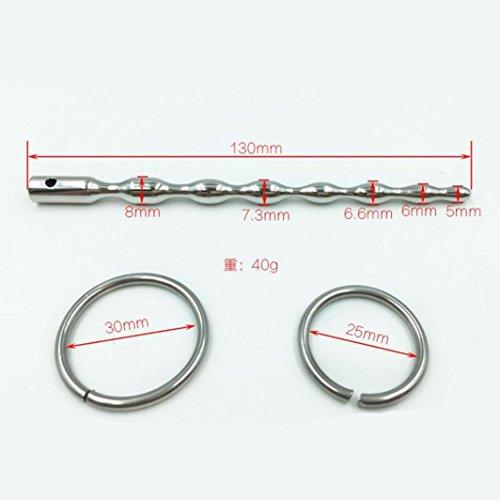 Waymine Stainless Steel Plug Male Urethral Dilator Penis Plug Urethral Sounding Toy